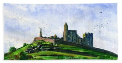Rock Of Cashel Ireland Bath Towel
