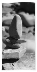 Bath Towel featuring the photograph Rock Stacking by Kristen Fox