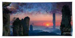 Rock Towers Bath Towel