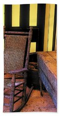 Rocking Chair And Woodbox Hand Towel by Rodney Lee Williams