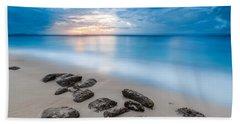 Rocks By The Sea Hand Towel by Mihai Andritoiu