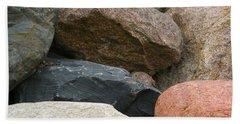 Rocks In Various Colors Bath Towel