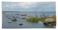 Rocks On The Baltic Sea Bath Towel