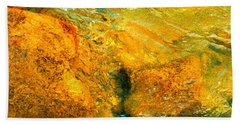Rocks Under The Stream By Christopher Shellhammer Bath Towel