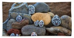 Rocky Faces In The Sand Hand Towel