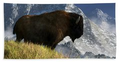 Rocky Mountain Buffalo Hand Towel