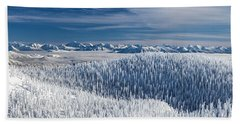 Rocky Mountain Winter Bath Towel by Aaron Aldrich