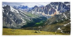 Rocky Mountains In Jasper National Park Hand Towel