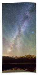Rocky Mountains Indian Peaks Milky Way Rising Hand Towel