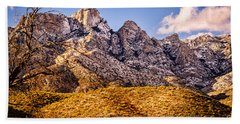 Bath Towel featuring the photograph Rocky Peaks by Mark Myhaver