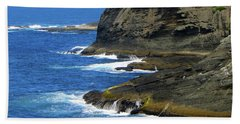 Rocky Shores Hand Towel by Tikvah's Hope