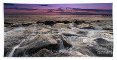 Rocky Sunset At Cape May 16x9 Hand Towel