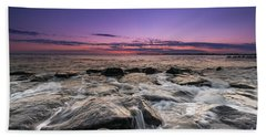 Rocky Sunset At Cape May Hand Towel