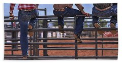 Rodeo Fence Sitters Bath Towel by Priscilla Burgers