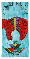 Rojo Oso Hand Towel by Susie WEBER