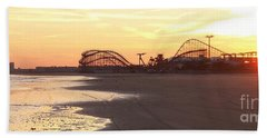 Roller Coaster Sunset Bath Towel