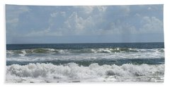 Rolling Clouds And Waves Bath Towel