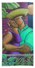 Romance Jibaro Hand Towel by Oscar Ortiz