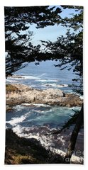 Romantic California Coast Hand Towel by Christiane Schulze Art And Photography