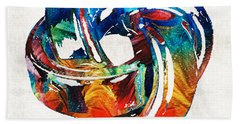 Romantic Love Art - The Love Knot - By Sharon Cummings Bath Towel