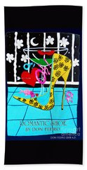Hand Towel featuring the painting Romantic Shoe by Don Pedro De Gracia