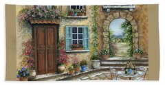 Romantic Tuscan Courtyard Hand Towel