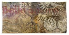 Rome Vintage Italy Travel Collage  Hand Towel