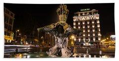 Rome's Fabulous Fountains - Bernini's Fontana Del Tritone Bath Towel