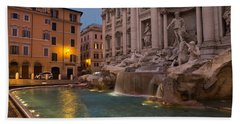 Rome's Fabulous Fountains - Trevi Fountain At Dawn Hand Towel