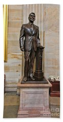 Ronald Regan -  U S Capitol Statuary Hall Hand Towel by Allen Beatty