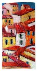 Rooftops Collioure Hand Towel