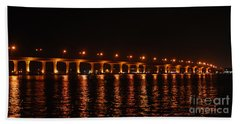 Hand Towel featuring the photograph Roosevelt Bridge Panorama by Olga Hamilton