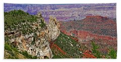 Roosevelt Point Two On North Rim/grand Canyon National Park-arizona   Bath Towel by Ruth Hager