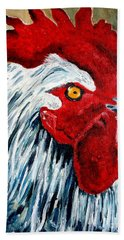 Bath Towel featuring the painting Rooster Doodle by Julie Brugh Riffey