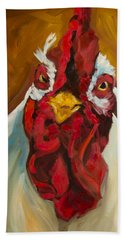 Rooster Face Hand Towel