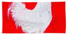Rooster For The Cafe Hand Towel by Jan Matson