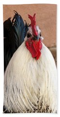 Rooster Hand Towel by Laurel Powell