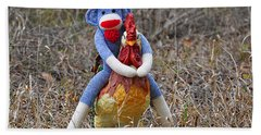 Rooster Rider Hand Towel
