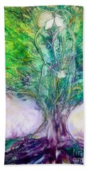 Bath Towel featuring the painting Rooted In Love by Deborah Nell