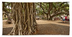 Roots - Banyan Tree Park In Maui Hand Towel