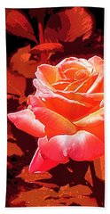 Rose 1 Bath Towel by Pamela Cooper