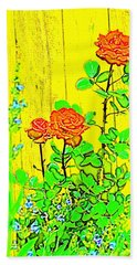 Rose 9 Bath Towel by Pamela Cooper