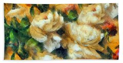 Rose Garden Abstract Expressionism Hand Towel