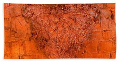 Rose Gold Mixed Media Triptych Part 3 Bath Towel