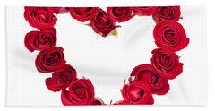 Rose Heart Bath Towel