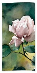 Hand Towel featuring the painting Lilac Rose  by Greta Corens