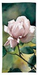 Watercolor Of A Lilac Rose  Bath Towel