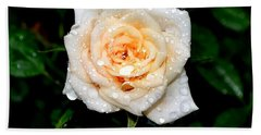Rose In The Rain Hand Towel by Deena Stoddard