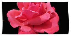 Bath Towel featuring the photograph Rose Is A Rose by Judy Palkimas