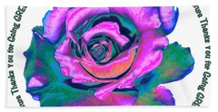 Rose Mother Nature Hand Towel by Marlene Rose Besso